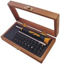Набор часовых бит 4мм в держателем в деревянной коробке Narex 850110