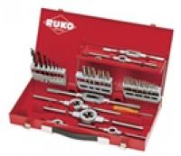Набор метчиков и плашек HSS в металлическом чемодане Ruko 245030