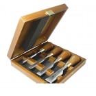 Набор из 4 зачистных стамесок в деревянном ящике WOOD LINE PLUS Narex 853750
