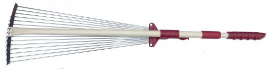 Грабли веерные раздвижные телескопические Mr.Logo 7212-2