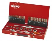 Резьбнарезной набор MF3-MF20 HSS метчики+плашки+воротки 43 предмета Ruko 245041