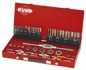 Набор метчиков и плашек HSS в металлическом чемодане Ruko 245040
